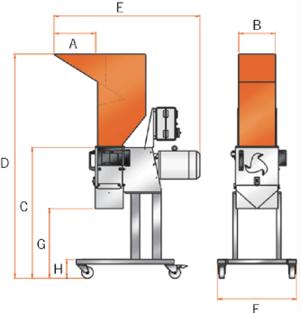 C-serija visoke noge
